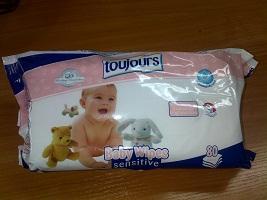 BABY whipes sensitive-влажные салфетки (100шт)