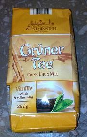 листовой Gruner Tee+VANILIA 250гр (желтая пачка)