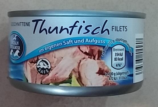 Тунец Thunfisch  naturale 192gr
