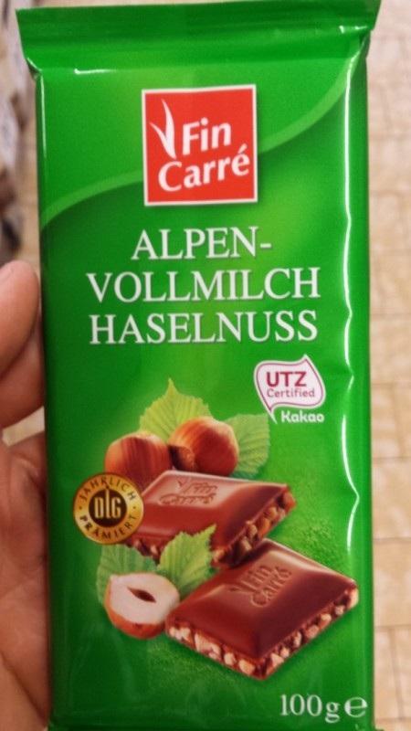 Alpen Vollmilch Haselnuss (зеленый) 100гр